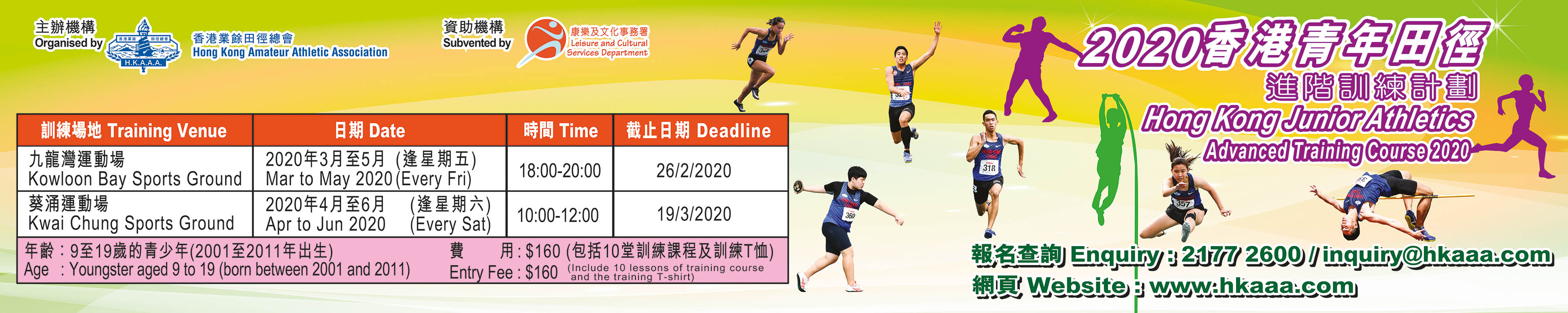 Hong Kong Junior Athletics Advanced Training Course 2020